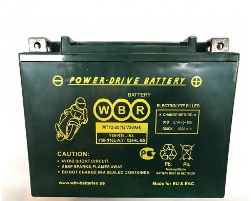 Мото аккумулятор WBR  MT12-20