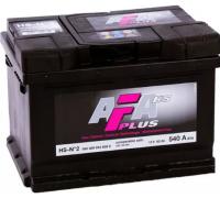 Автомобильные аккумуляторы AFA PLUS 60 А/ч 560 409 054 обратная R+ EN 540A 242x175x175 HS-N°2 HS-N2 Обратная полярность