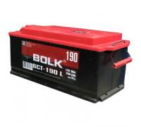 Автомобильные аккумуляторы BOLK Standart 190 А/ч L+ EN 1 200A 513x223x223 EURO AB 1902 Прямая полярность Груз