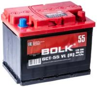 Автомобильные аккумуляторы BOLK Standart 55 А/ч обратная R+ EN 450A 242x175x190 AB 550 AB 550 Обратная полярность Евро