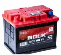 Автомобильные аккумуляторы BOLK Standart 60 А/ч прямая L+ EN 500A 242x175x190 AB 601 AB 601 Прямая полярность