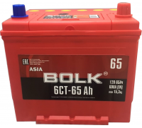 Автомобильные аккумуляторы BOLK ASIA 65 А/ч прямая L+ EN600 А 230x173x220 ABJ 651 Прямая полярность