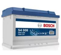 Автомобильные аккумуляторы BOSCH Silver 74 А/ч 574 012 068 обратная R+ EN 680A 278x175x190 S4 008 0 092 S40 080 Обратная полярность