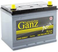 Автомобильные аккумуляторы GANZ ASIA 75 А/ч ОБР 258x173x220 EN640 GAА750 GANZ GAА750 Обратная полярность Груз