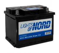 Автомобильные аккумуляторы Lights of Nord 60 А/ч Обратная EN460 А 242x175x190 6CN-60NR Обратная полярность Евро