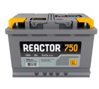 Автомобильные аккумуляторы REACTOR 75 А/ч обратная R+ EN 750A 278x175x190 6CT-75.0 Обратная полярность