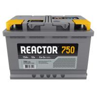 Автомобильные аккумуляторы REACTOR 75 А/ч прямая L+ EN 750A 278x175x190 6CT-75.1 Прямая полярность
