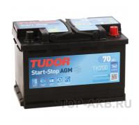Автомобильные аккумуляторы TUDOR AGM 70 А/ч обратная R+ EN 760A 278x175x190 TK700 TK700 Обратная полярность