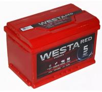 Автомобильный аккумулятор WESTA RED 74 А/ч Обратная EN760 А 276x175x190 6СТ-74VLR Обратная полярность
