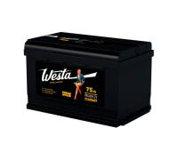 Автомобильные аккумуляторы WESTA BLACK Pretty Powerful 75 А/ч 276x175x190 EN700 WESTA 6СТ-75VL Прямая полярность