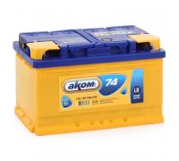 Автомобильные аккумуляторы АКОМ LB 74 А/ч обратная R+ EN 700A 278x175x175 6CT-74.0 LB Обратная полярность