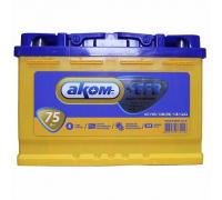 Автомобильный аккумулятор АКОМ +EFB 75 А/ч прямая L+ EN750 А 278x175x190 6CT-75.1 Прямая полярность
