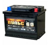 Автомобильные аккумуляторы ПУЛЬС 60 А/ч обратная R+ EN 500A 242x175x190 6СТ-60.0 Обратная полярность