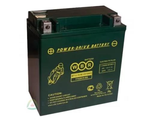 Мото аккумулятор WBR MT12-18-C