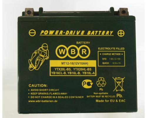 Мото аккумулятор WBR MT 12-18 HP