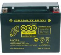 Мото аккумулятор WBR MT12-16