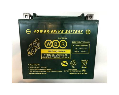 Мото аккумулятор WBR MT12-18