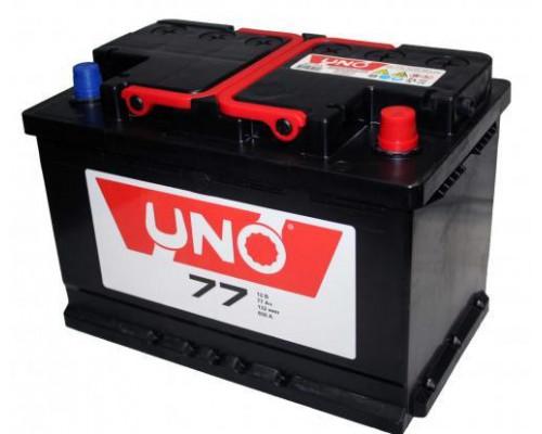 Автомобильный аккумулятор  Uno 77 Ач