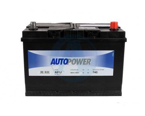 Автомобильный аккумулятор  Autopower 91 Ач