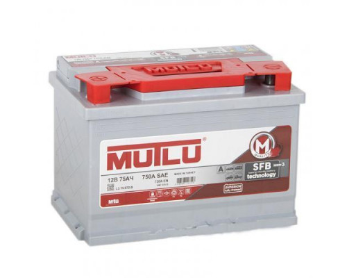 Автомобильный аккумулятор  Mutlu 75 Ач