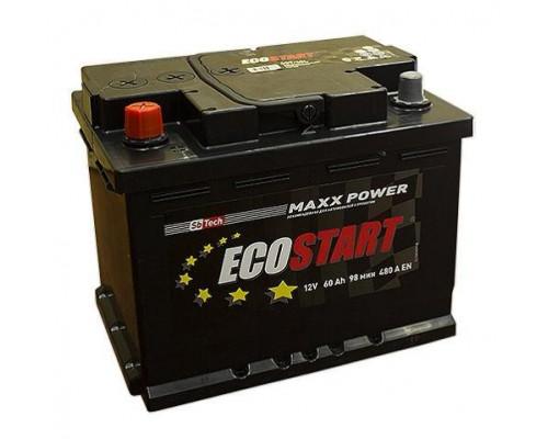 Автомобильный аккумулятор  Ecostart 60 Ач