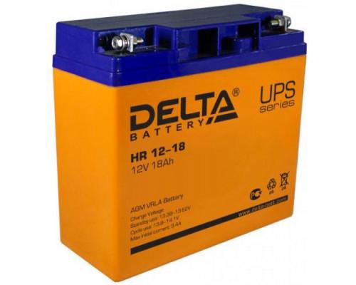 Аккумулятор Delta HR 12-18 (12 вольт 18 ач)