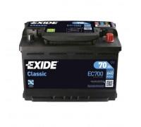 Автомобильный аккумулятор  Exide 70 Ач 278x175x190