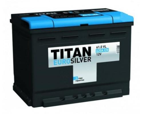 Автомобильный аккумулятор  Titan 61 Ач