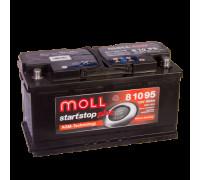Автомобильный аккумулятор  Moll 95 Ач 353x175x190