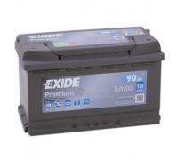 Автомобильный аккумулятор  Exide 90 Ач 315x175x190