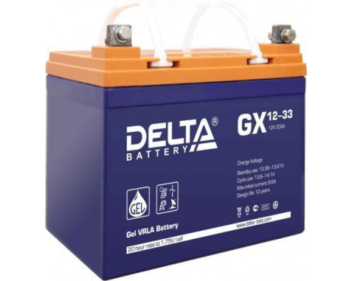 Аккумулятор Delta GX 12-33 (12 вольт 33 а.ч)