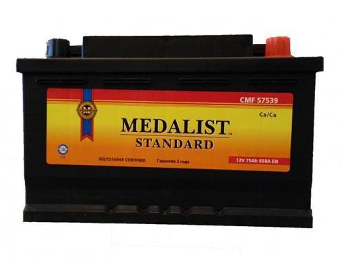 Автомобильный аккумулятор  Medalist 75 Ач