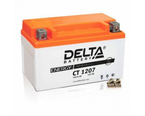 Мото аккумулятор Delta 7 Ач