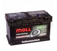 Автомобильный аккумулятор  Moll 80 Ач 315x175x190