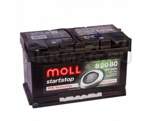 Автомобильный аккумулятор  Moll 80 Ач