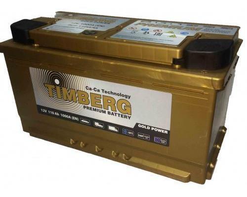 Автомобильный аккумулятор  Timberg 110 Ач