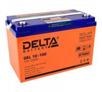 Автомобильный аккумулятор  Delta 100 Ач 330x171x220