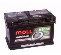 Автомобильный аккумулятор  Moll 65 Ач 276x175x175