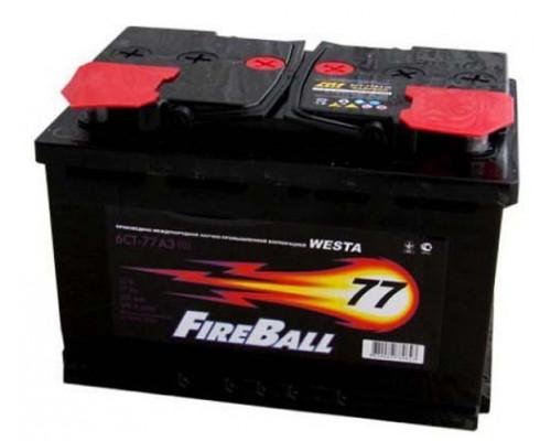 Автомобильный аккумулятор  Fire Ball 77 Ач