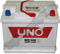 Автомобильный аккумулятор  Uno 55 Ач 242x175x190