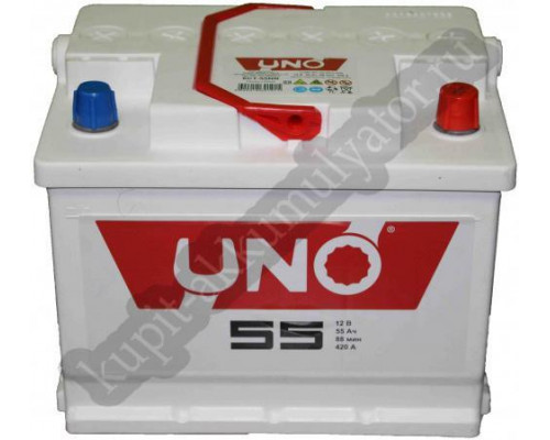 Автомобильный аккумулятор  Uno 55 Ач