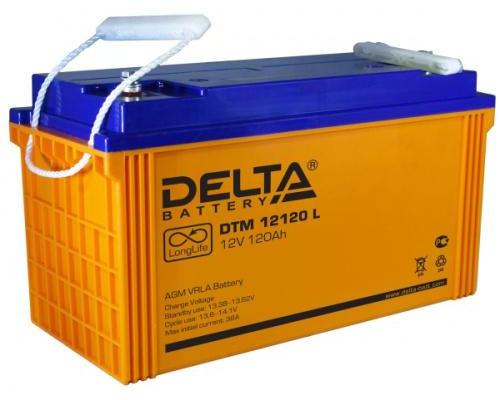 Аккумулятор Delta DTM 12120 L 12 Вольт 120 А.ч
