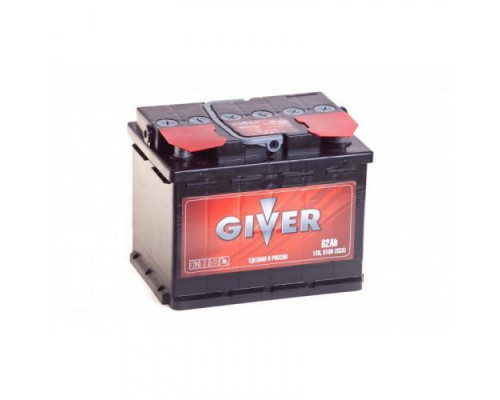 Автомобильный аккумулятор  Giver 62 Ач