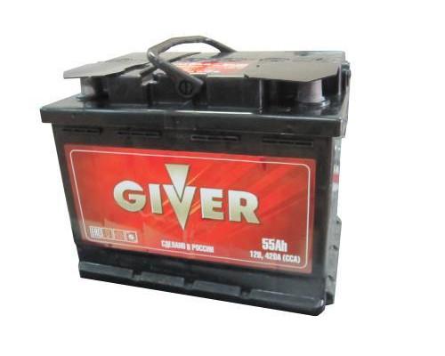 Автомобильный аккумулятор  Giver 55 Ач