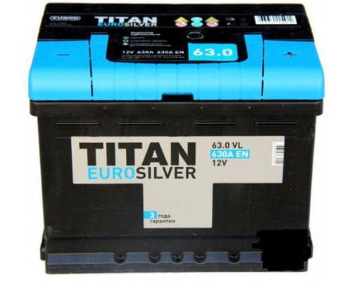 Автомобильный аккумулятор  Titan 63 Ач