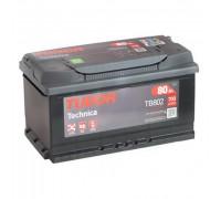 Автомобильный аккумулятор  Tudor 80 Ач 315x175x175