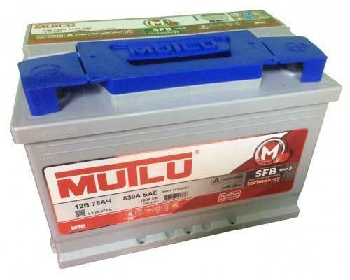Автомобильный аккумулятор  Mutlu 78 Ач