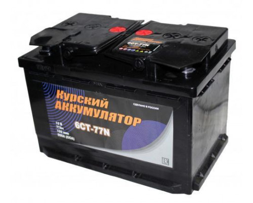 Автомобильный аккумулятор  Курский 77 Ач