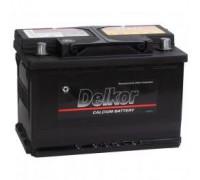 Автомобильный аккумулятор  Delkor 74 Ач 278x175x190