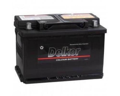 Автомобильный аккумулятор  Delkor 74 Ач